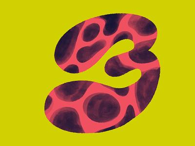 36 days of type // number 3 36daysoftype characterdesign digitalillustration colourful design illustrator illustration