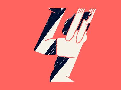 36 days of type // number 4 36daysoftype textures characterdesign digitalillustration colourful design illustrator illustration