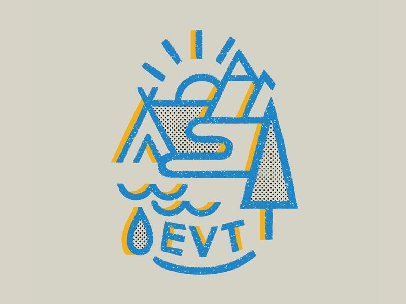 Environmental student organization visual logo camping gritty digitalillustration textures colourful illustrator photoshop brush photoshop kyle webster illustration design