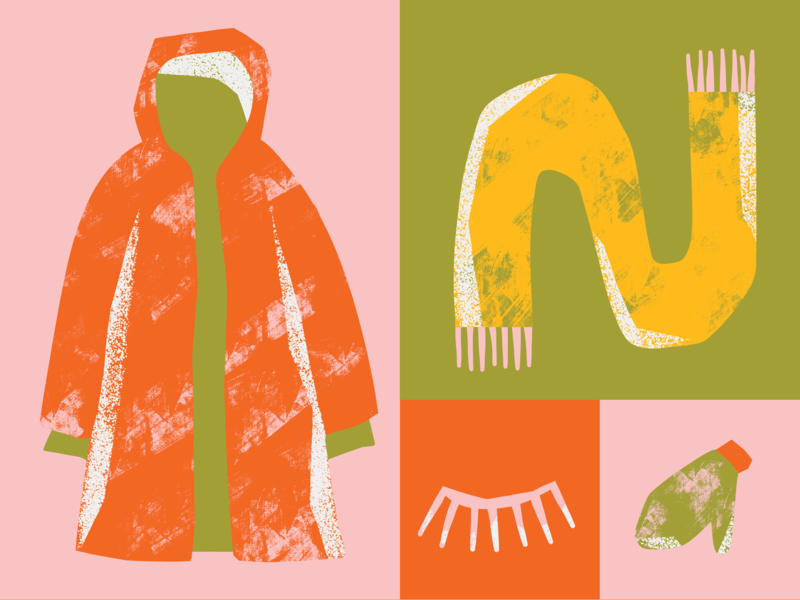 Winter fashun spring editorial shapes gritty digitalillustration textures colourful illustrator photoshop brush photoshop illustration kyle webster design