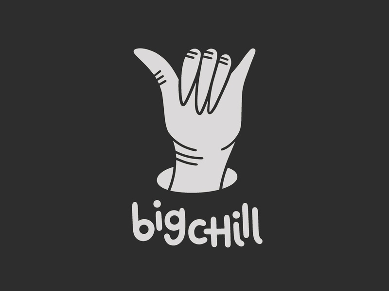BIG CHILL chill hand handlettering digitalillustration illustrator photoshop brush photoshop kyle webster illustration design