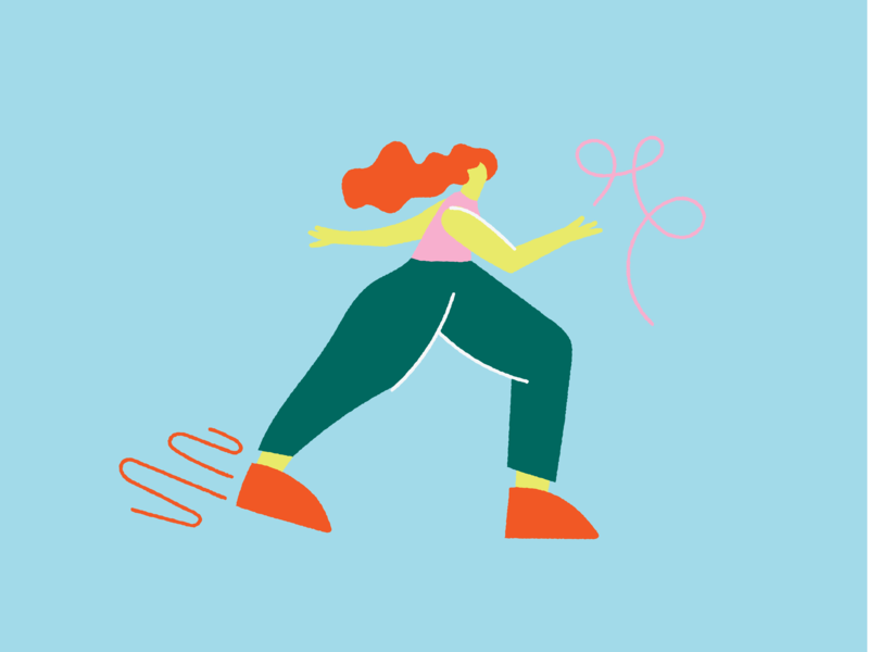 Walky walk walking bold wacky editorial characterdesign digitalillustration colourful design illustrator illustration