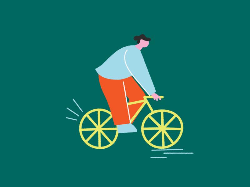 Bikey biker character biker bold wacky editorial characterdesign textures digitalillustration colourful illustrator design illustration