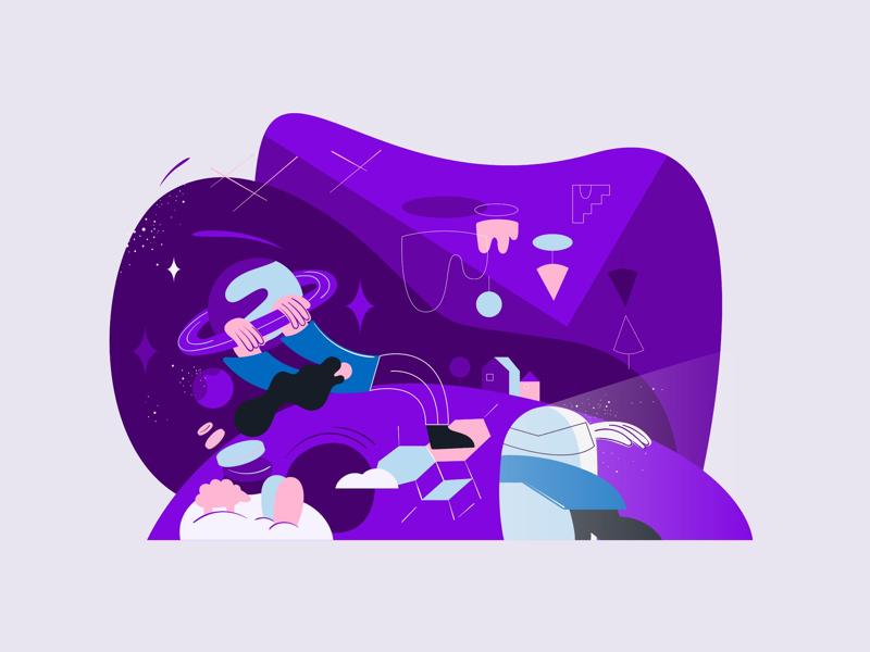 Spacey babe digital art graphic design imagination space illustration web design digital illustration