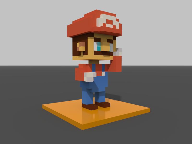 Voxel Study 1 - Mario