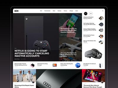 BGR mobile landing redesign homepage ipad iphone interface news