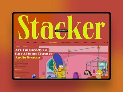 Stacker logo social homepage news interface