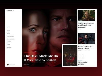 Stacker cinema movie film logo branding homepage interface news