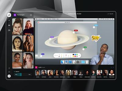 Luna Park 3d collaboration video chat call interface app