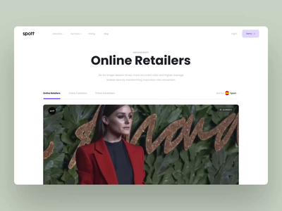 Spott News shoppable shop sale product dashboard ui graphic design animation homepage interface news