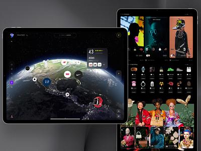 Mav.farm 2.0 social shoping shop spotify sale dashboard ios mobile iphone ipad ui interface landing homepage