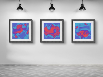 """""""Abstract"""" motion design graphic interior home poster print"""
