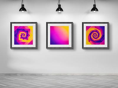 """Drop"" motion design graphic interior home poster print"