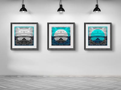 """Mask"" motion design graphic interior home poster print"