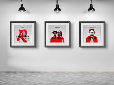 """Listen on"" illustration typography print poster interior home graphic design"