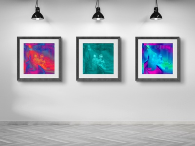 """Hedonutopia"" typography illustration print poster interior graphic home design"