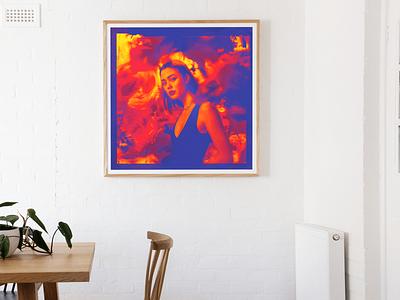"""Colour Back"" typography illustration print poster interior home graphic design"