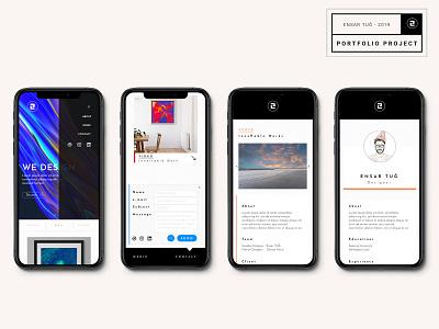 Design Potfolio responsive website web visual ux typography motion illustration design ui graphic