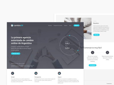 Currency exchange fintech - Landing page landing landing page fintech currency exchange currency finance home page design home page website design homepage ui web development web design website