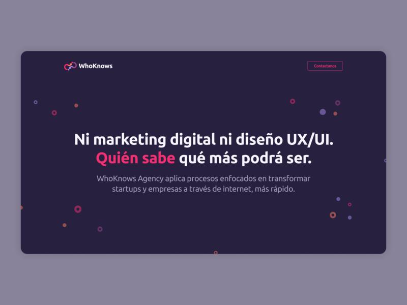 Digital agency - Homepage's hero section