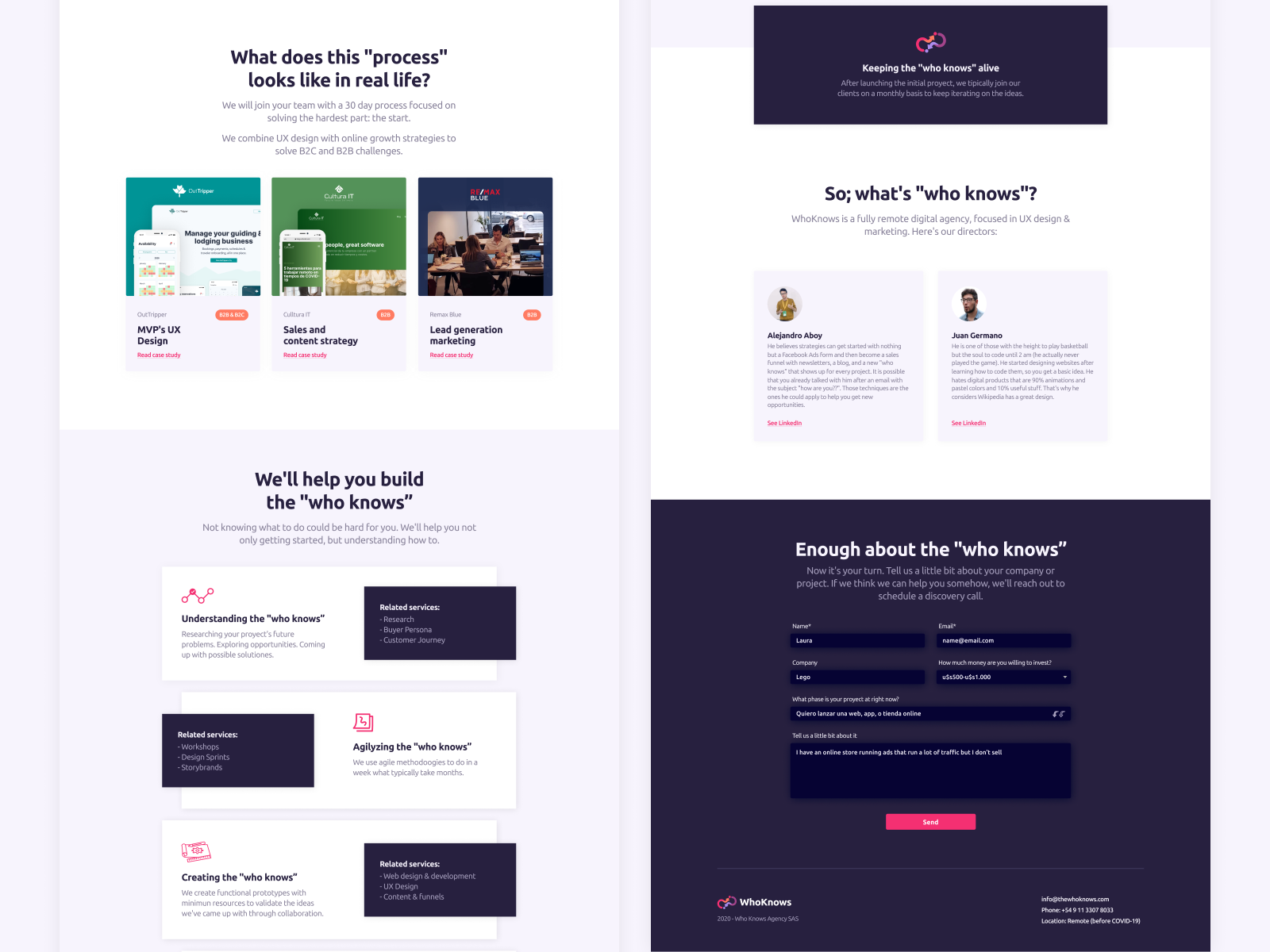 Landing Page With Some Storytelling By Juan Germano On Dribbble