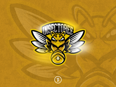 insectobee yellow bee mascot esport logo twitch csgo fortnite art design character cartoon branding brand team logo vector sport illustration gaming game esport mascot bee yelllow