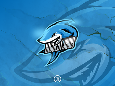 Biggest Jaws Shark esport logo character brand design stream valorant dota2 twitch csgo fortnite illustration art team gaming game logo sport esport mascot shark jaws