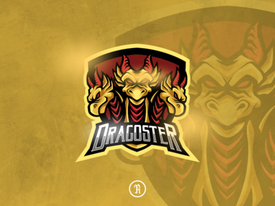 Dragoster hydra dragon esport logo dota2 twitch csgo fortnite branding brand team illustration vector design art game gaming esport sport logo mascot monster hydra dragon
