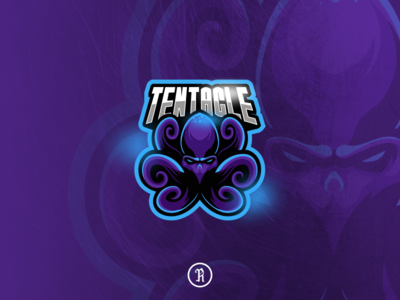tentacle octopus kraken mascot logo twitch typography branding brand team illustration vector gaming game esport sport cartoon character design art logo mascot kraken octopus tentacle