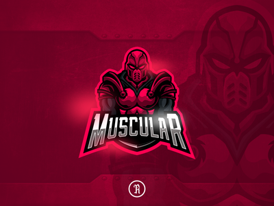 Muscular Guardian mascot esport logo stream illustration branding brand team logo gaming game boxing esport sport mascot vector design art gym warrior bodyguard guardian muscular