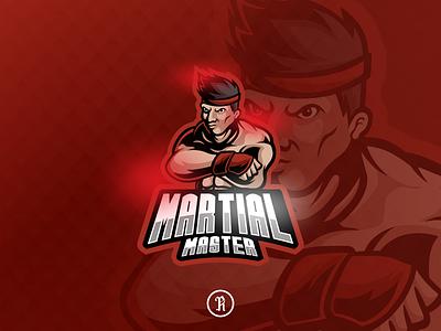 Martial master mascot sport logo design character twitch branding cartoon team fight club club illustration vector gaming game logo sport esport mascot fight fighter art martial