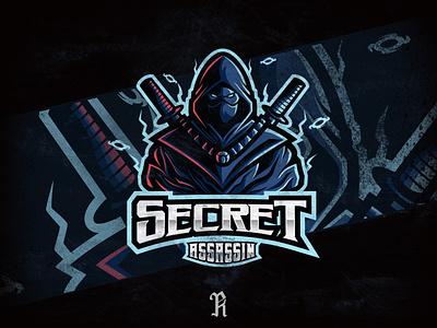Secret Assassin esports design art typography csgo fortnite dribbble team esport assassin ninja gaming game branding vector sport mascot logo illustration design art