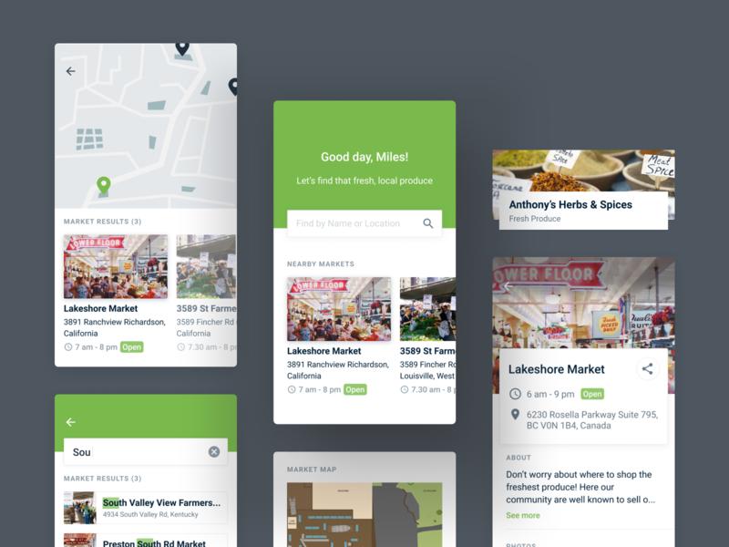 Farmer's Market Directory App