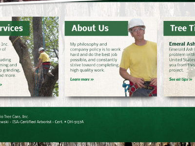 Ohio Tree Care website redesign web design website refresh