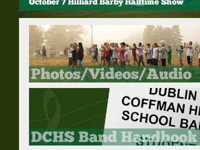 Website design for Dublin Coffman Marching Band web design website refresh