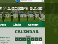 Website design for Dublin Coffman Marching Band