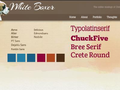 White Boxer redesign web design website refresh