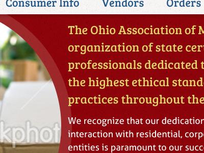 OAM website redesign web design website refresh