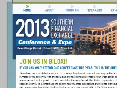 SFE conference subsite design web design website refresh