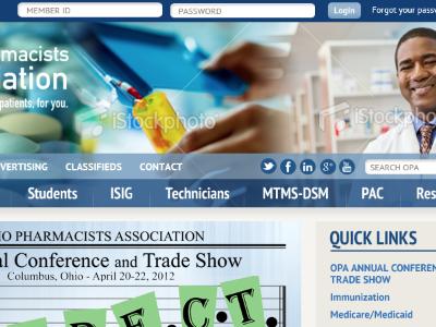 OPA website redesign web design website refresh