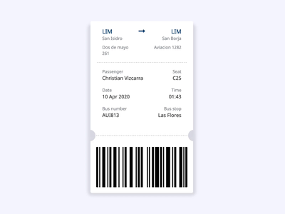 Ticket UI microinteraction developer front-end animation ui ticket