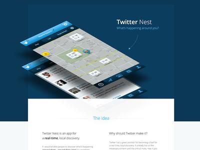 Twitter Nest - case study ux ui app mobile ios iphone nest tweet twitter case study clean simple