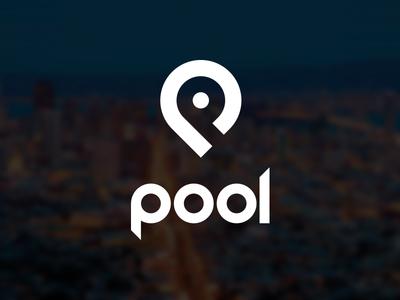 Pool logo - v1 logo pool concept pin p transportation