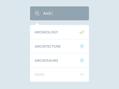 Prismatic - Search  ux ui app mobile search dropdown list clean flat minimalistic menu