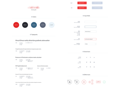 UI style guide style guide clean minimal ui interface user visual kit