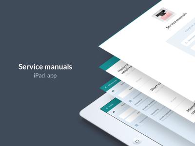 Service manuals - iPad app ipad app product ux ui visual minimalist clean simple white