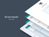Service manuals - iPad app