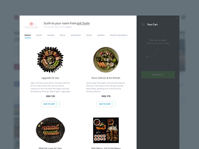 Sushi Order ux ui clean minimal flat product web order shop delivery food sushi