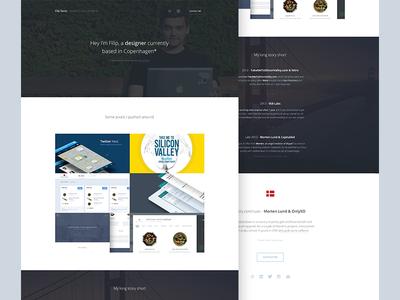 FilipSanta.com ux ui web design clean minimal simple personal portfolio