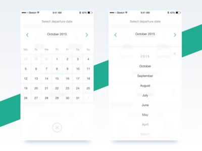 Calendar exploration hint search calendar airhelp claim flight mobile product ui ux